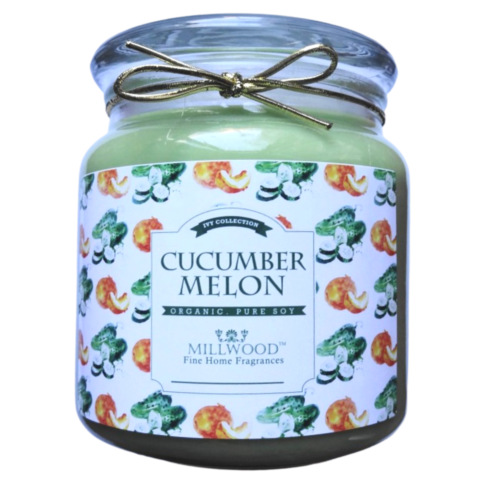 Cucumber Melon Soy Candle 16-oz 2021 Candle Scents and Air Freshener by Millwood Candles