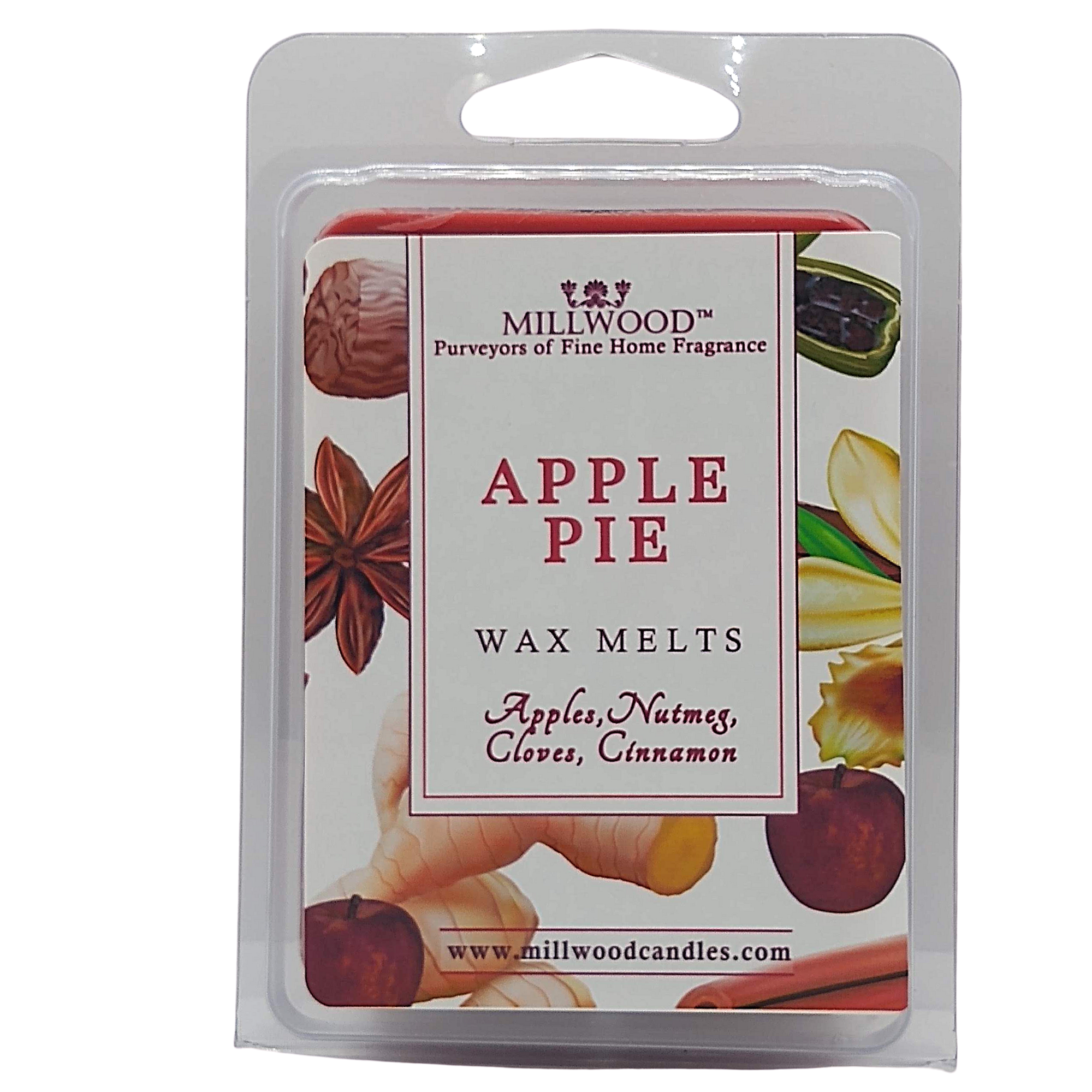 Apple Pie Organic Wax melts by Millwood Candles