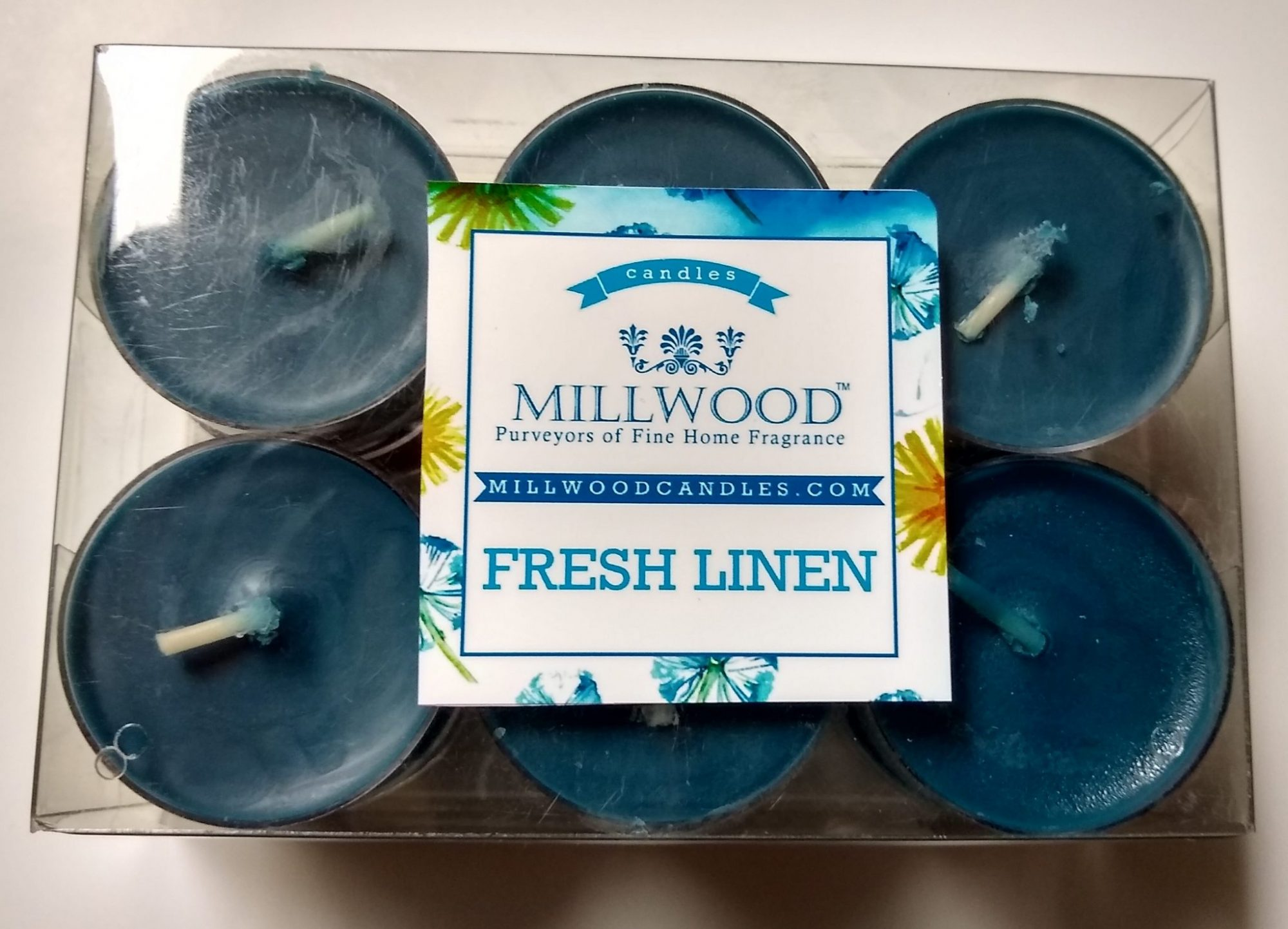 12 pack Millwood Candles Freah Linen tealights