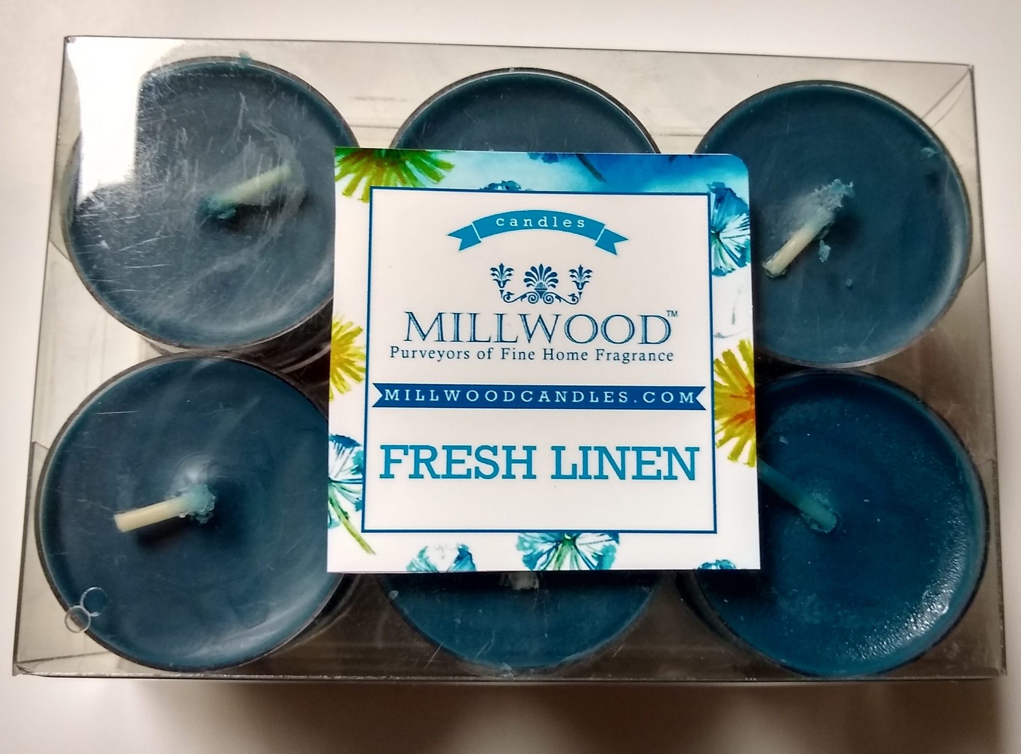 12 pack Millwood Candles Freah Linen tealights