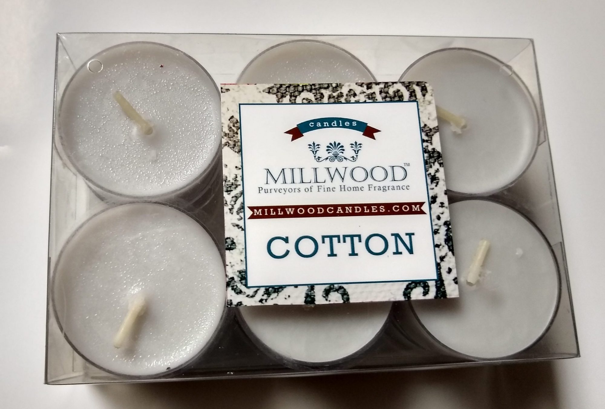 12 pack Millwood Candles Cotton tealights