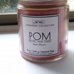 POM - Fruity and flirtatious Natural Soy Candle from Millwood Candles