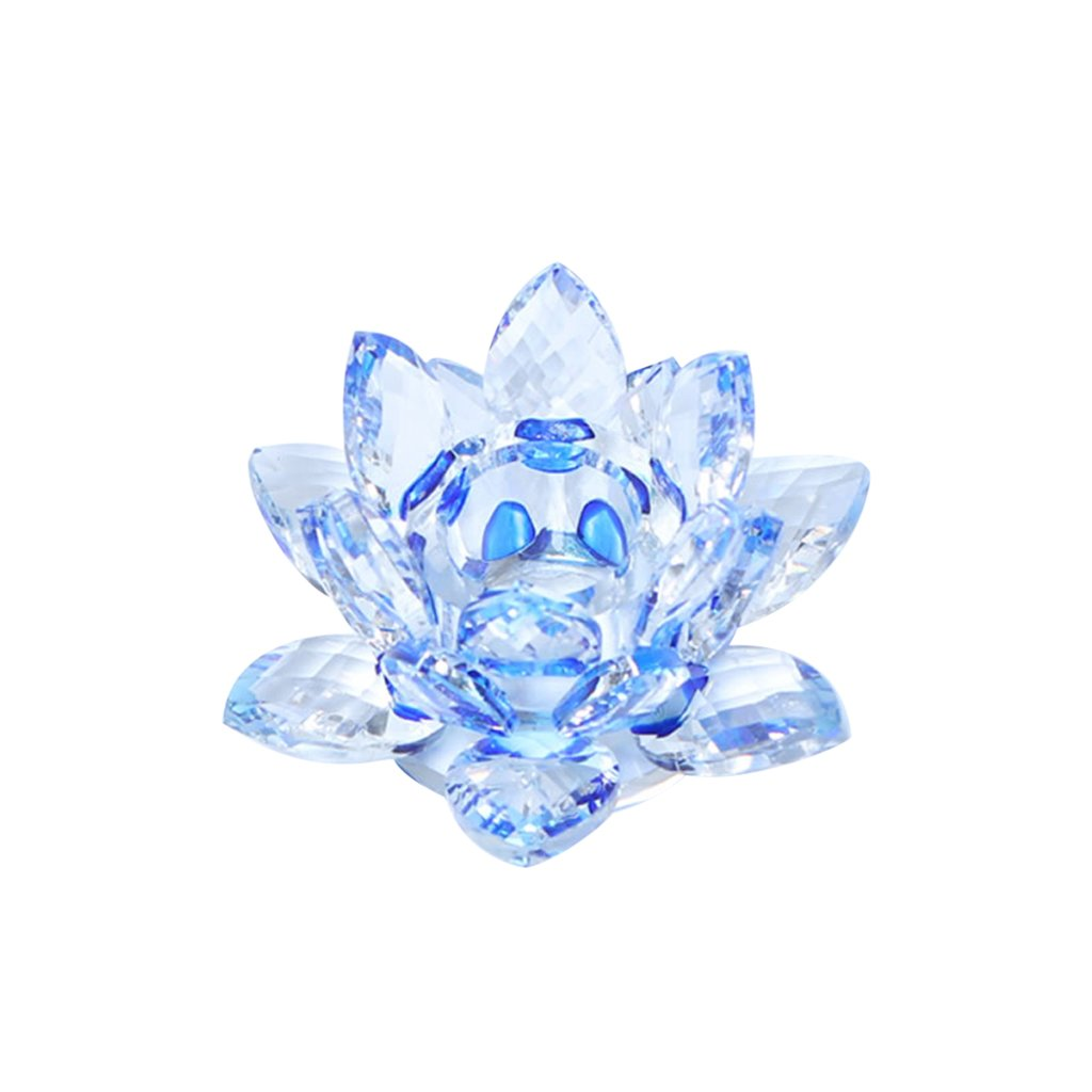 Crystal Lotus Votive Candle Holder