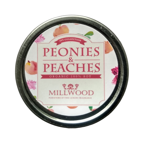 Peonies and Peaches Soy Candle 2 ounce