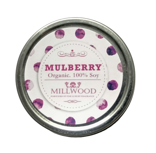 Mulberry Natural Soy Candle 2 ounce Millwood Candles