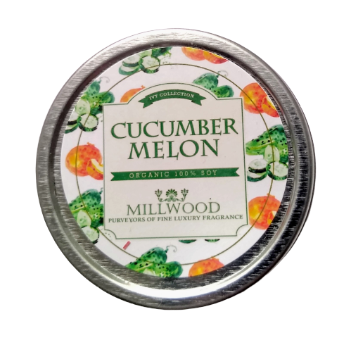 Cucumber Melon Natural Soy Candle 2 ounce Millwood Candles
