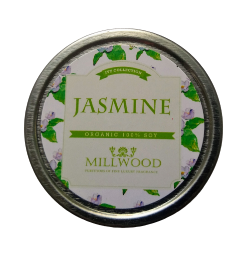 Jasmine Natural Soy Candle 2 ounce Millwood Candles