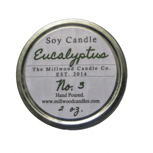 Eucalyptus Natural Soy Candle 2 ounce Millwood Candles