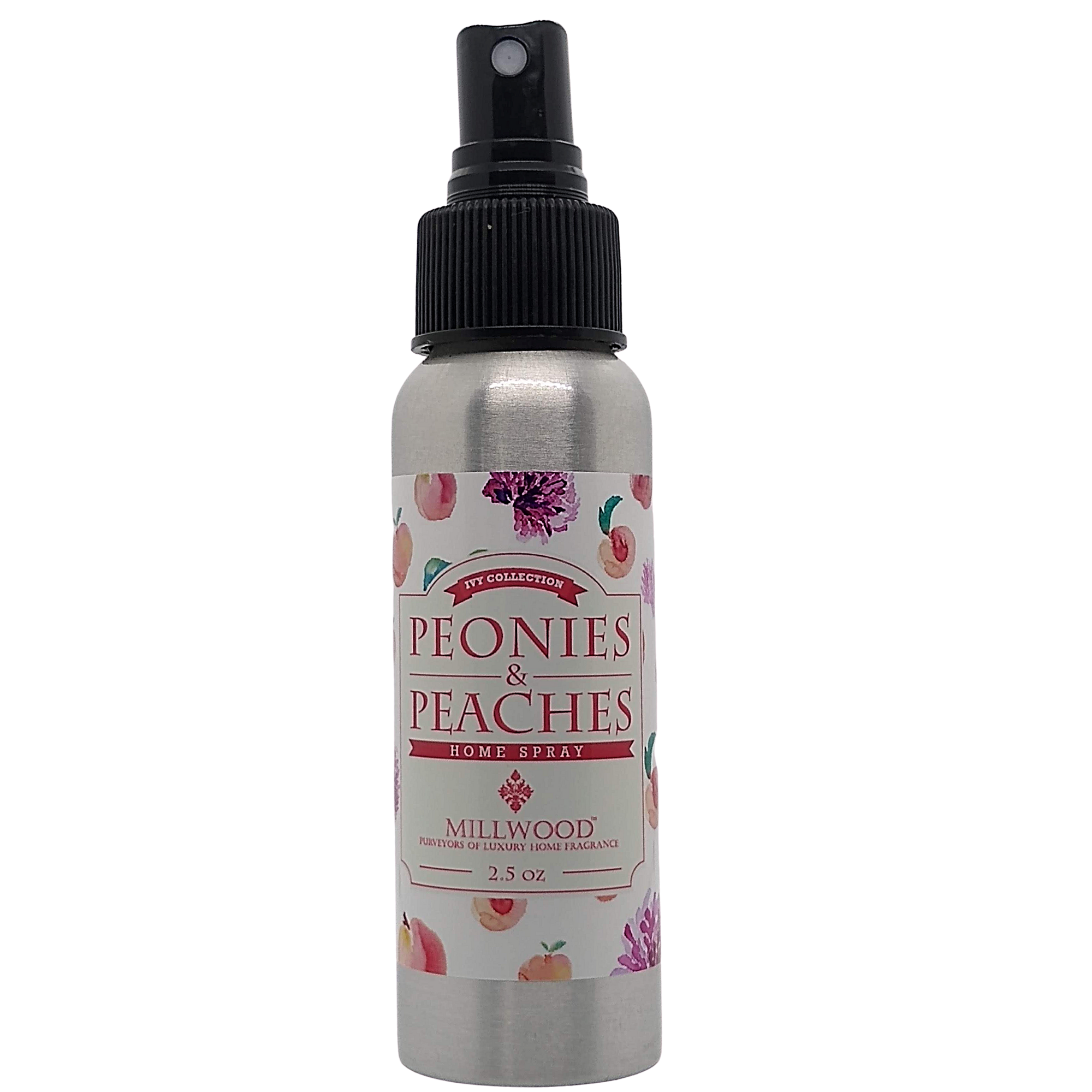 Peonies and Peaches Natural Room Spray by Millwood Candles
