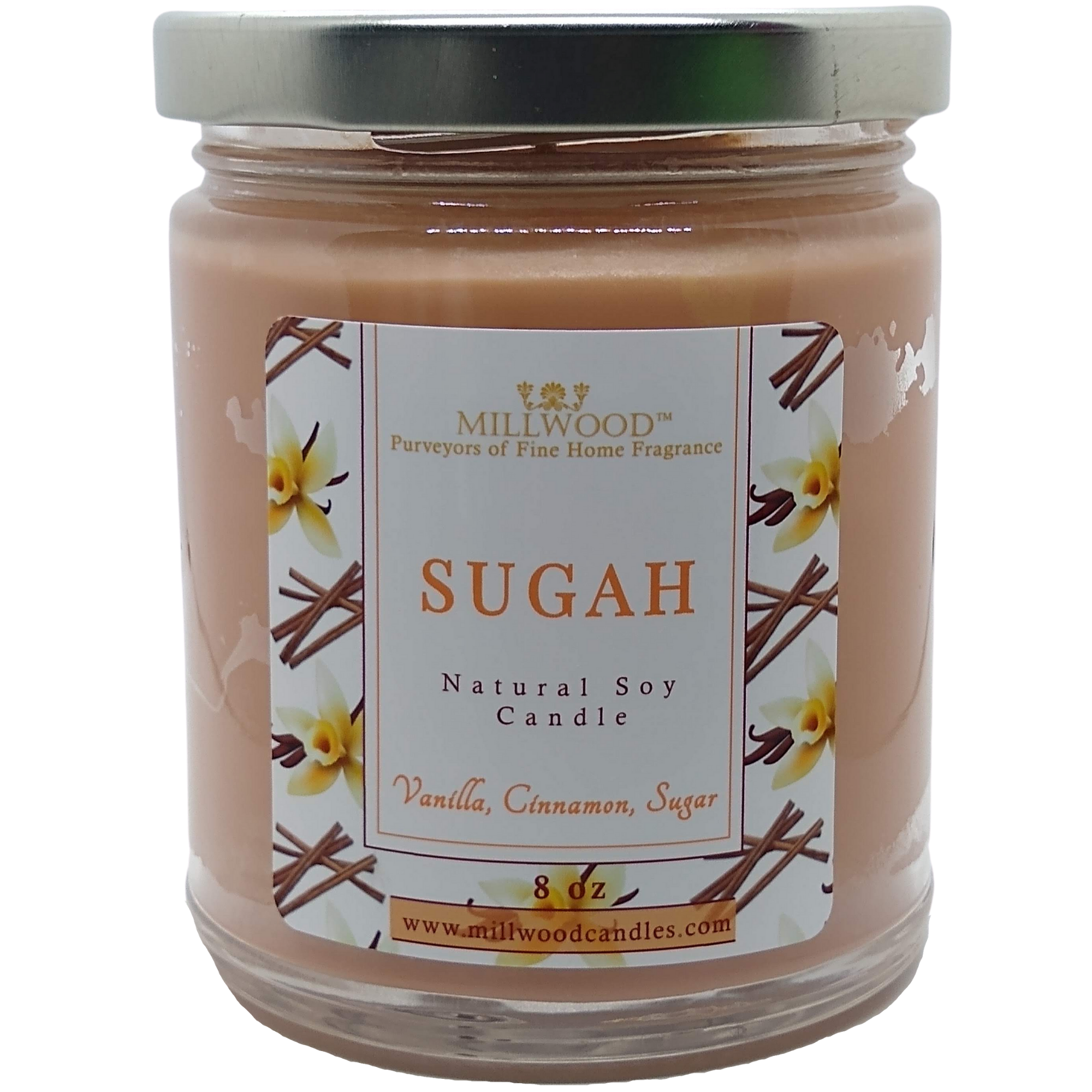 Sugar Vanilla Natural Soy Candle by Millwood Candles