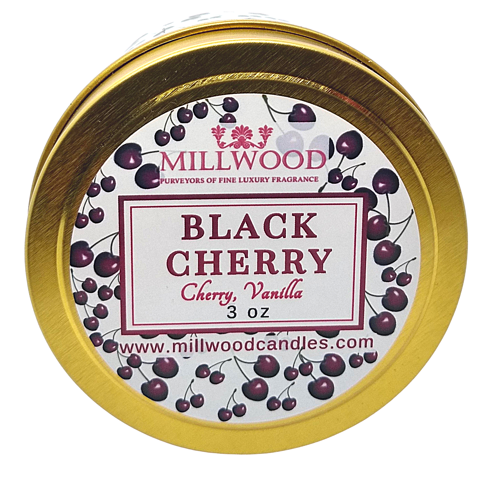 Black Cherry Soy Candle by Millwood Candles