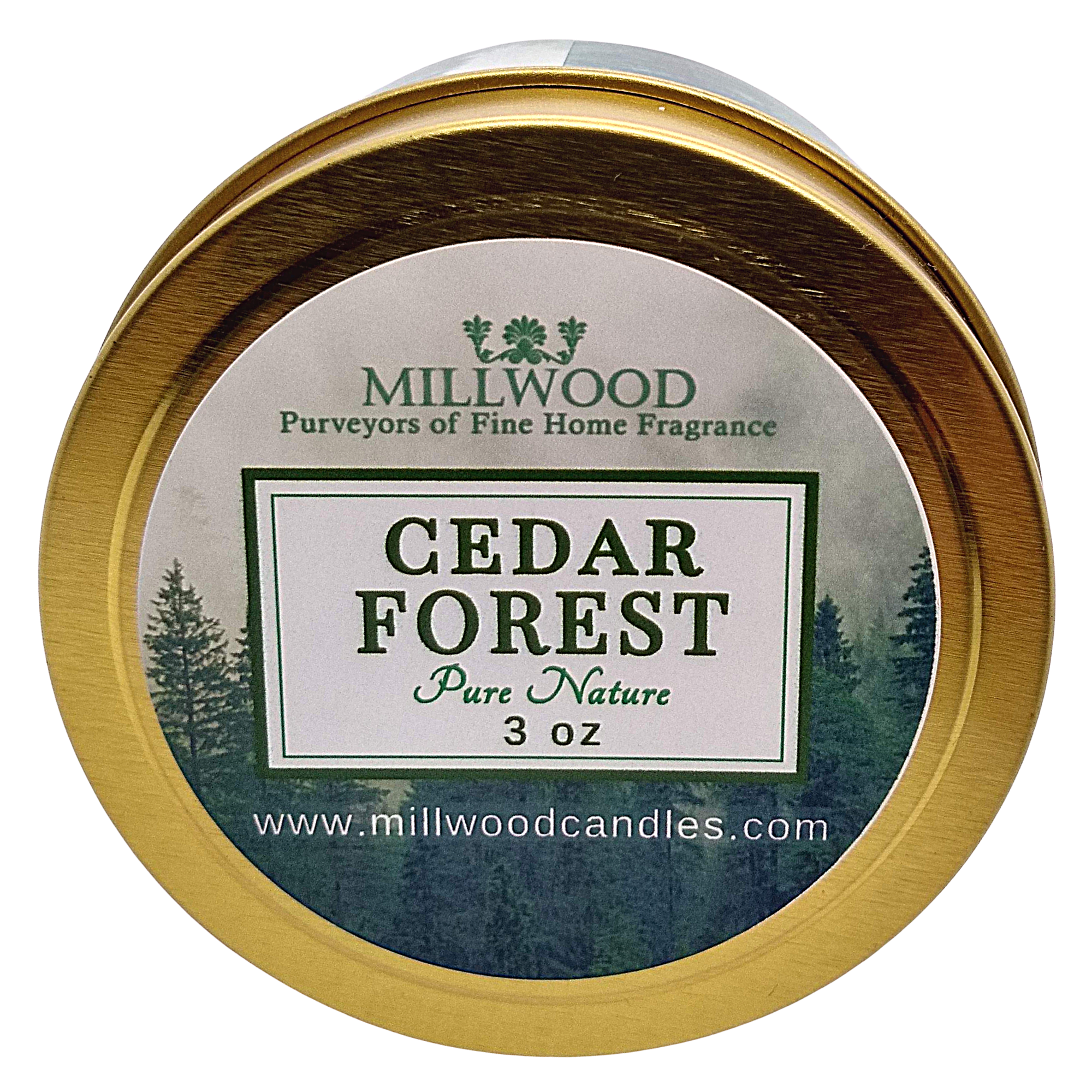Cedar Soy Candle by Millwood Candles