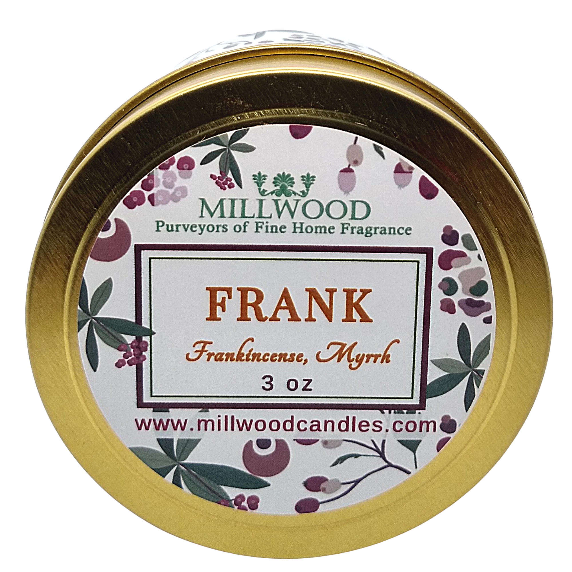 Frankincense Soy Candle by Millwood Candles