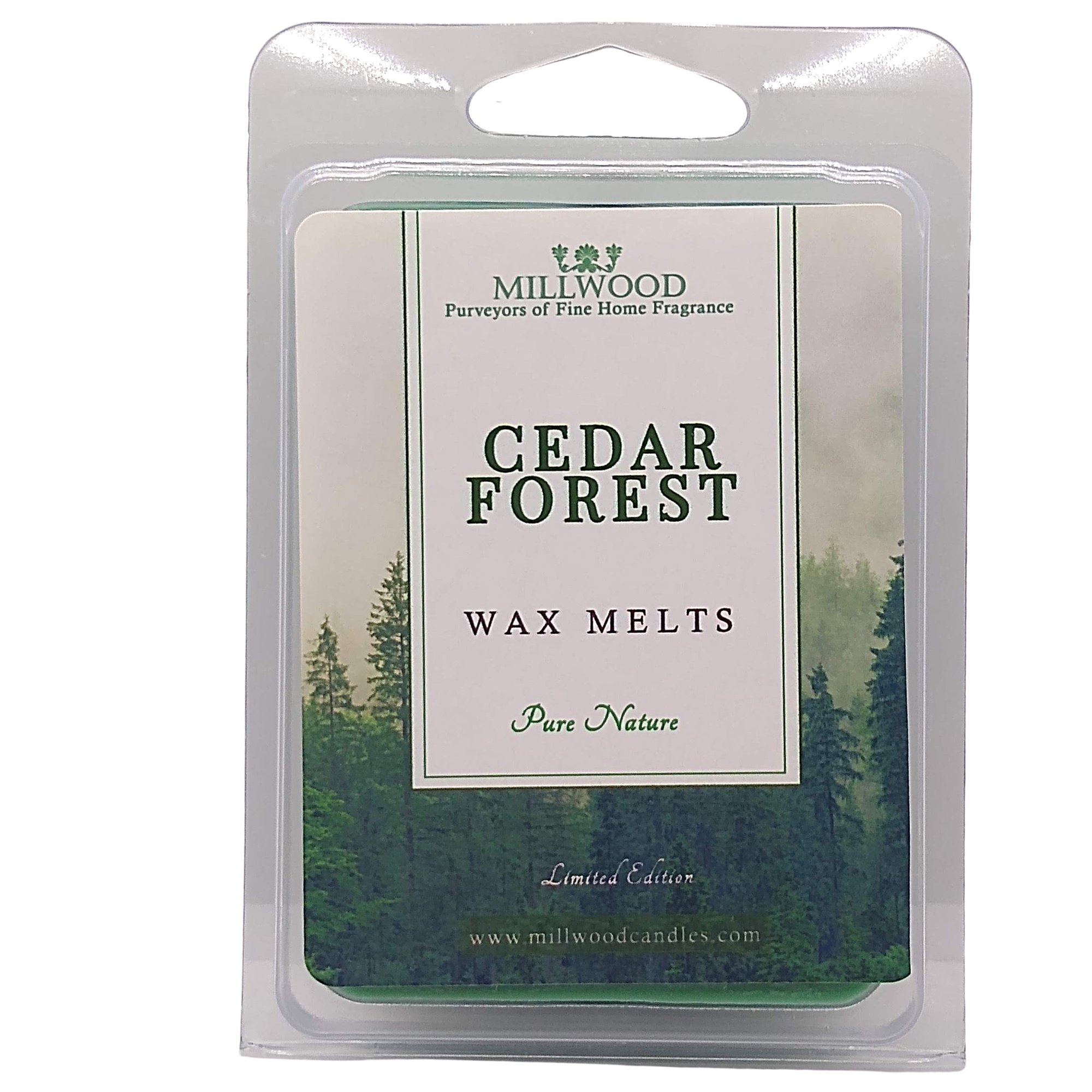 Cedar Wax Melts. Scent of Christmas by Millwood Candles